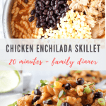 chicken enchilada skillet pasta