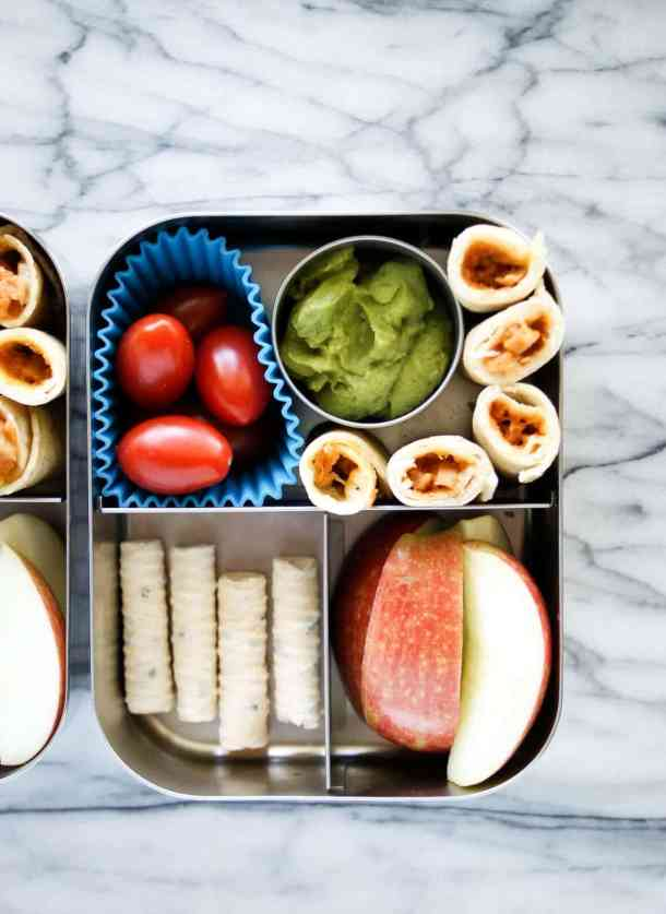 bento box lunch chicken taquitoos