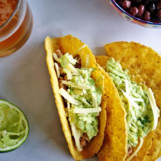 Chicken Tacos with Guacamole | anutritionisteats.com