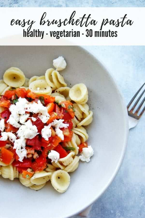 easy bruschetta pasta