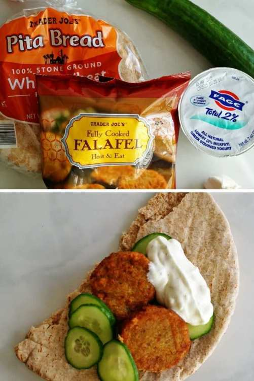 easy trader joes recipe falafel sandwich
