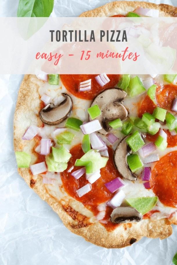 tortilla pizza recipe - pinterest