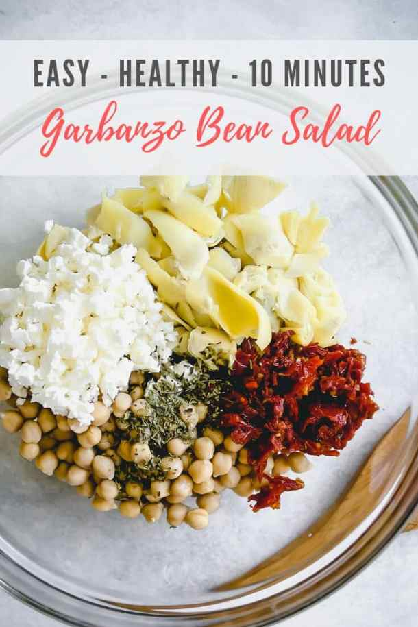 garbanzo bean salad - pinterest image