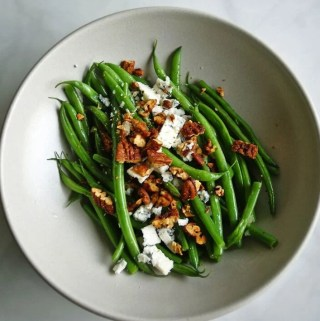 Green Beans Vinaigrette with Blue Cheese | anutritionisteats.com