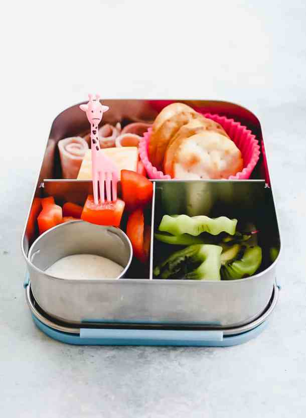 ham and cheese bento box straight on