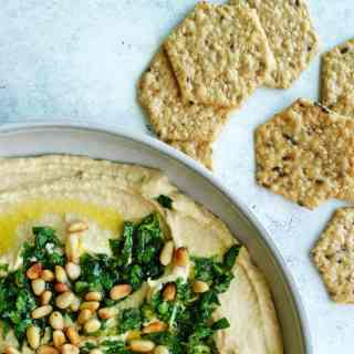 Hummus with Gremolata | Take your hummus up a notch with a gremolata topping - though super simple, it adds amazing bright flavor