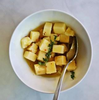 Honey-Thyme Marinated Sharp Cheddar   anutritionisteats.com
