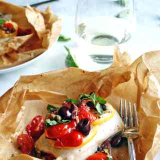 Steamed Mediterranean Fish Parcels | 20-minutes to a healthy fish dinner!