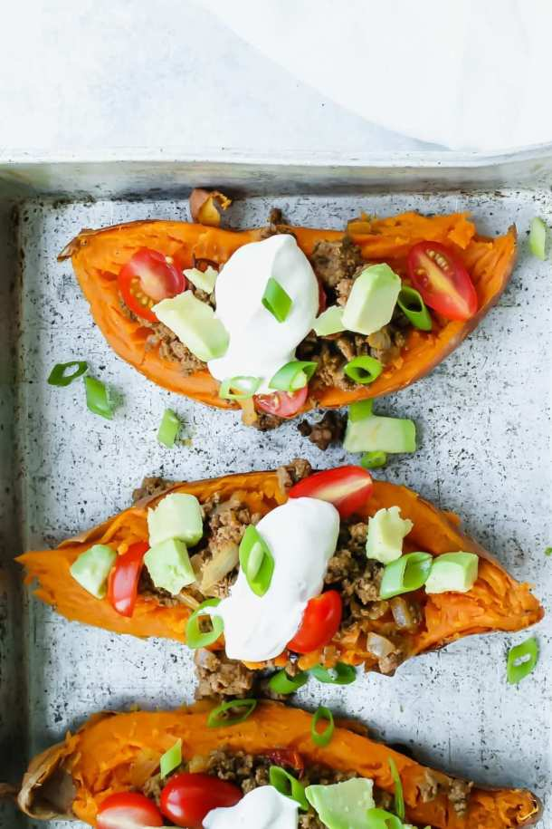 Mexican Stuffed Sweet Potatoes