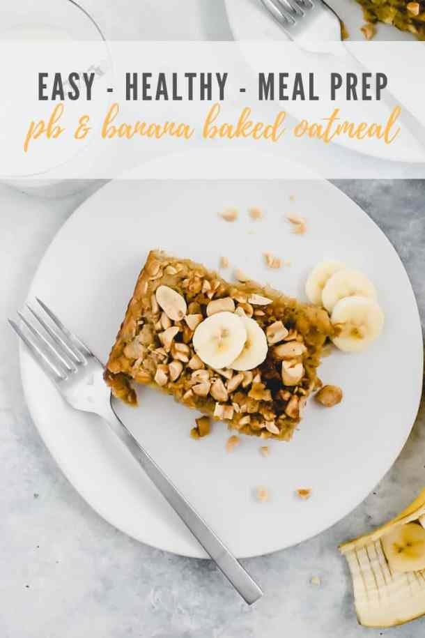 peanut butter banana baked oatmeal - pinterest