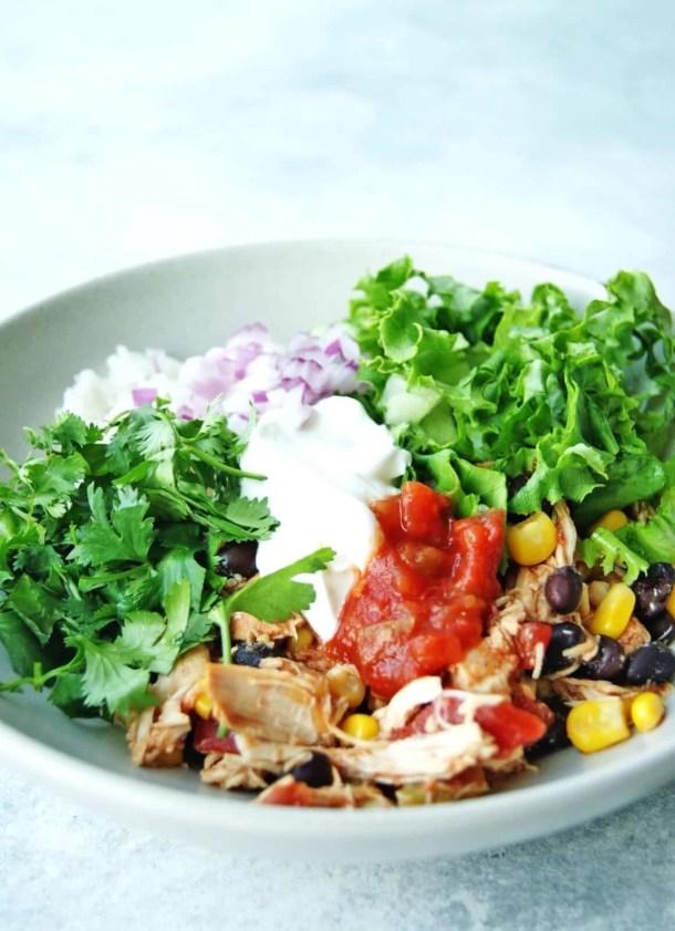 slow cooker chicken burrito bowls 8