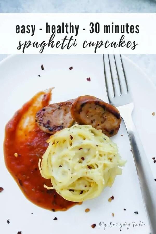 spaghetti cupcakes