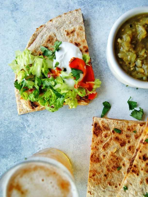 steak quesadillas recipe with toppings