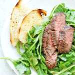 easy flank steak salad with arugula