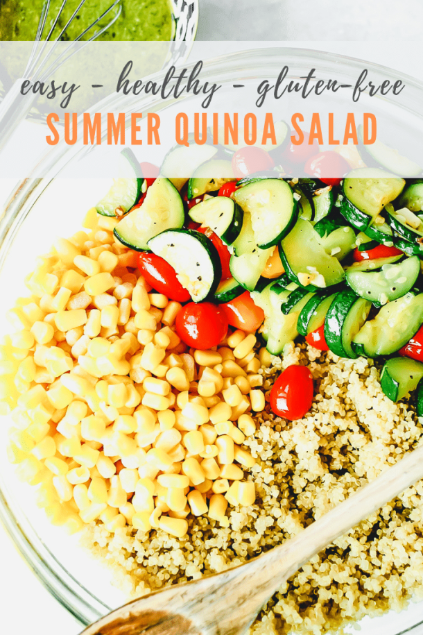 quinoa salad recipe - pinterest image