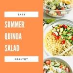 summer quinoa salad - 3 salad pictures