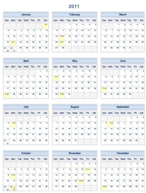 2012 calendar printable free pdf one page