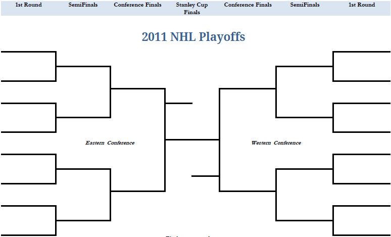 graphic relating to Printable Nhl Playoff Bracket referred to as Playoff Brackets Template. ms excel event bracket