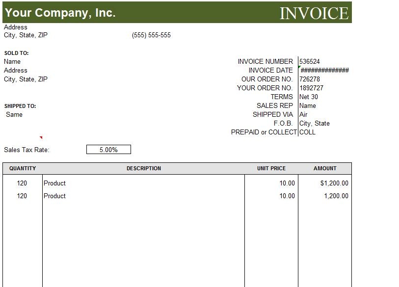Invoice Template Basic. Basic Sales Invoice Template Free Download