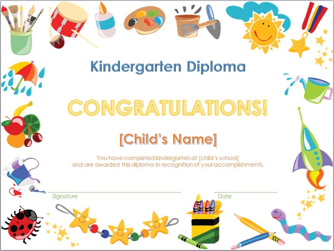 Kindergarten Diploma Template