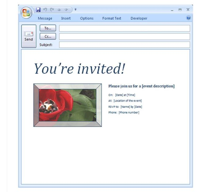 Marriage Invitation Email Format For Office Colleagues - Wedding