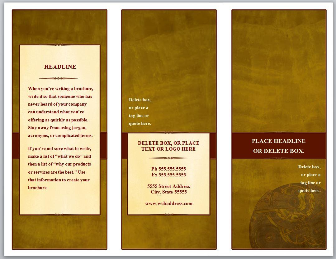 Pamphlet Template Free. free pamphlet template word publisher ...