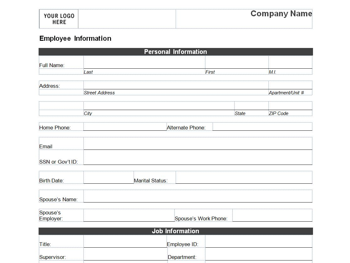 Download Data Personal Sheet Free
