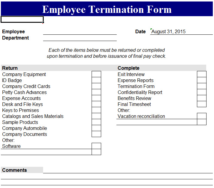 Employee Separation Form Template sample basic letter format 7 – Employment Separation Certificate Form