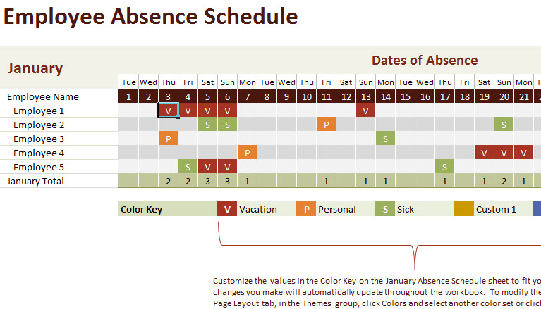 Vacation And Work Planning Calendar Template My Excel Templates