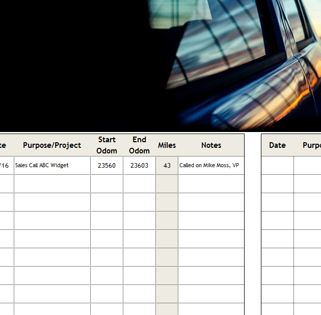 Travel Mileage Tracker Template My Excel Templates