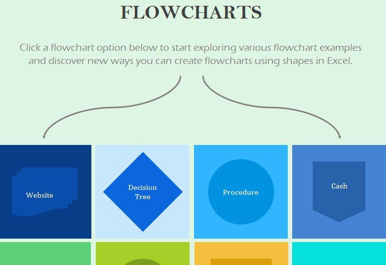 Flowchart Template My Excel Templates