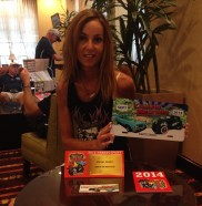 Linda, with some of the Cruisin' Reunion memorabilia