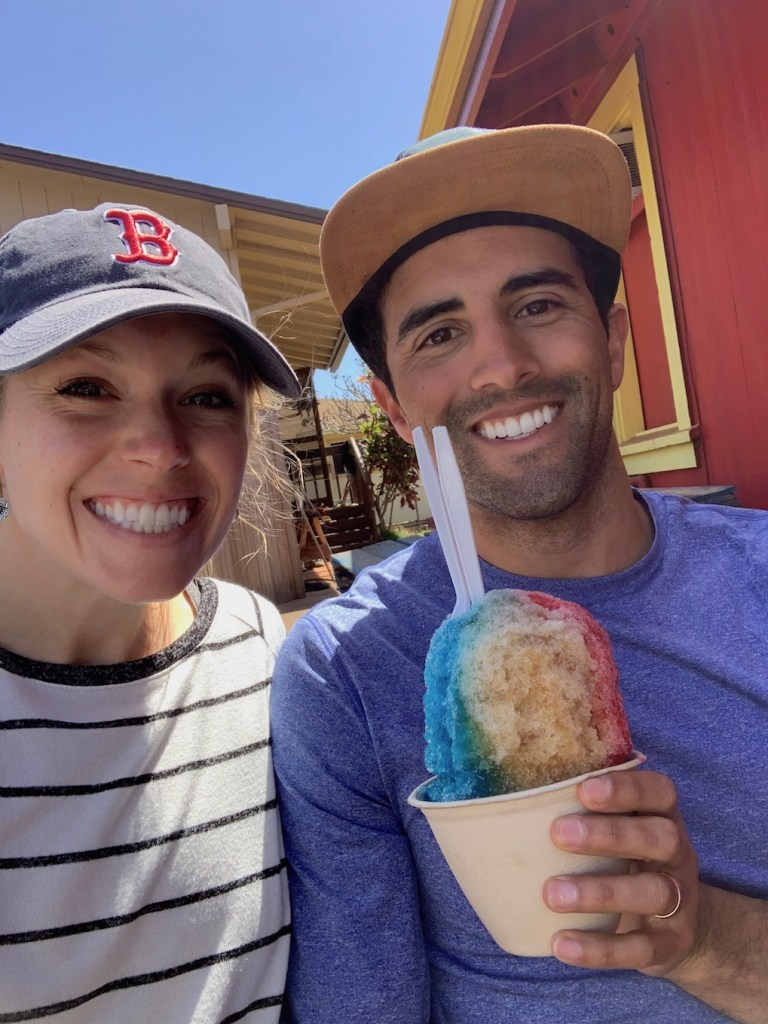 JoJos shaved ice after a long hike