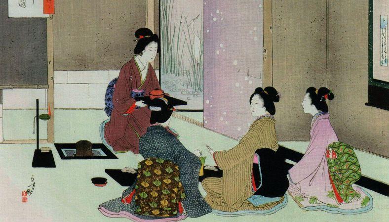 Mizuno Toshikata,Ceremonie du thé