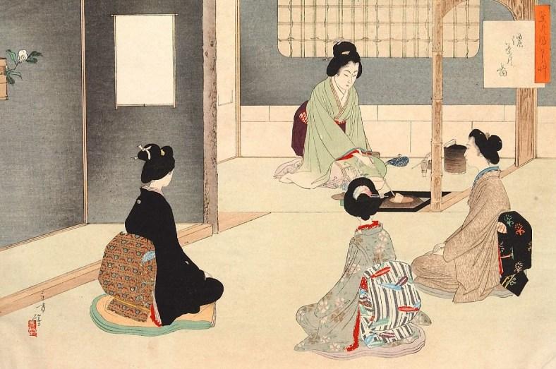 cérémonie du thé, Mizuno Toshikata