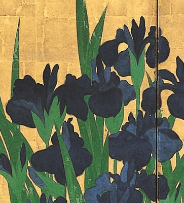 ogata Kôrin iris detail
