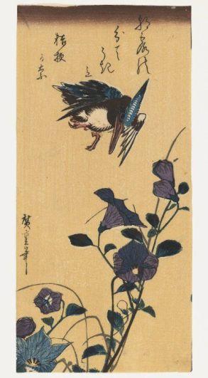 Hiroshige, roi des pêcheurs survolant des belles de jours