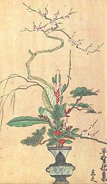 Hirozumi Sumiiyoshi-Ikebana-Rikka, 1700