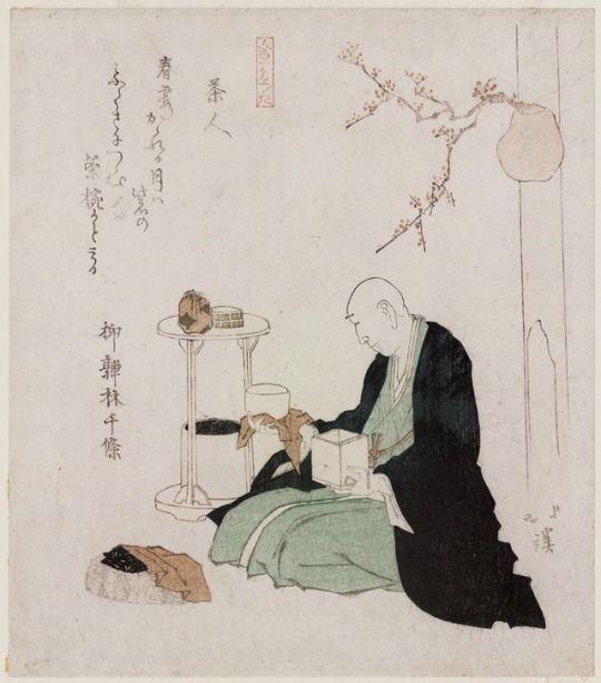 estampe,cérémonie du thé, chabana