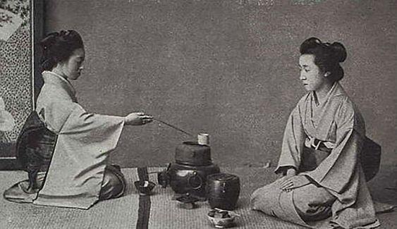 photo ancienne cérémonie du thé