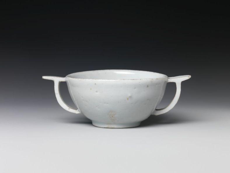 Corée, Joséon, porcelaine blanche, XVIès., coupe, Metropolitain Museum