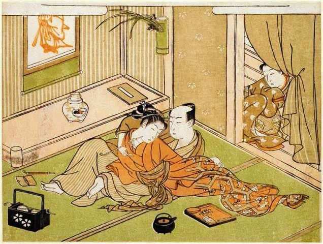 Harunobu, Lovers, 1765-1770