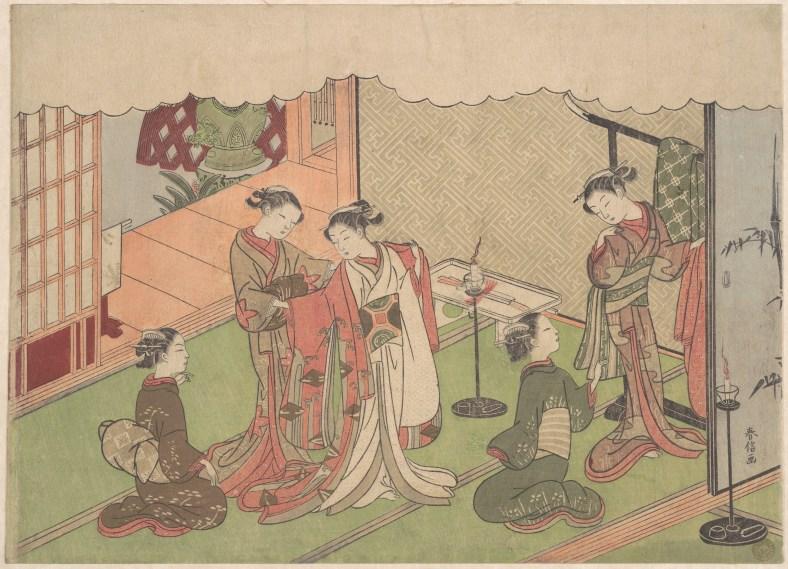Harunobu Suzuki, marriage ceremony, vers 1768