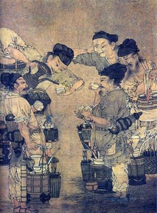 Competition in the Tea Market (detail), by Liu Songnian, around 1190 A.D., Southern Song Dynasty, China.
