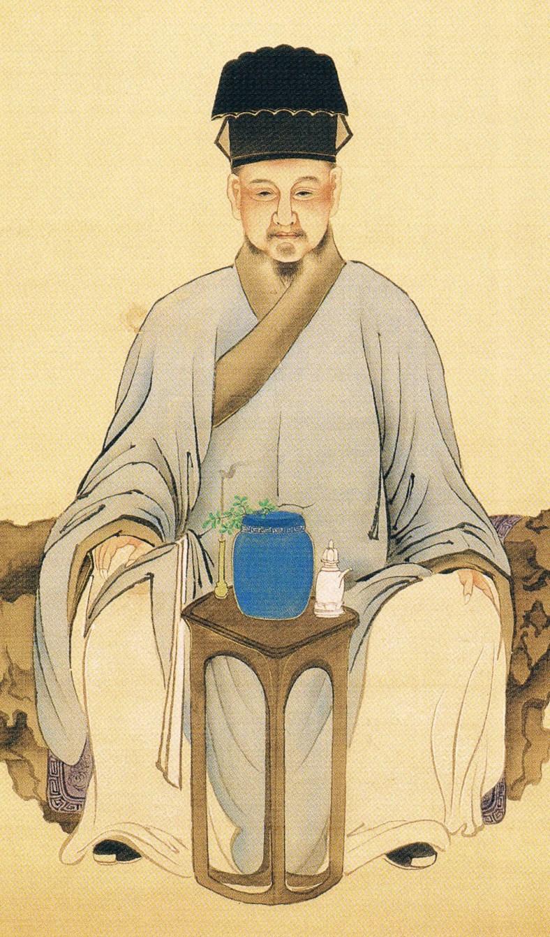 Représentation du XIXe siècle de Lu Yu et du thé.