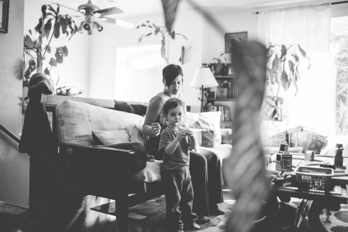 Missoula PhotographerMother Son Maternity Indoors Cozy Family