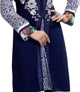 Alberts Festive & Party Embroidered Women's Kurti (Blue)