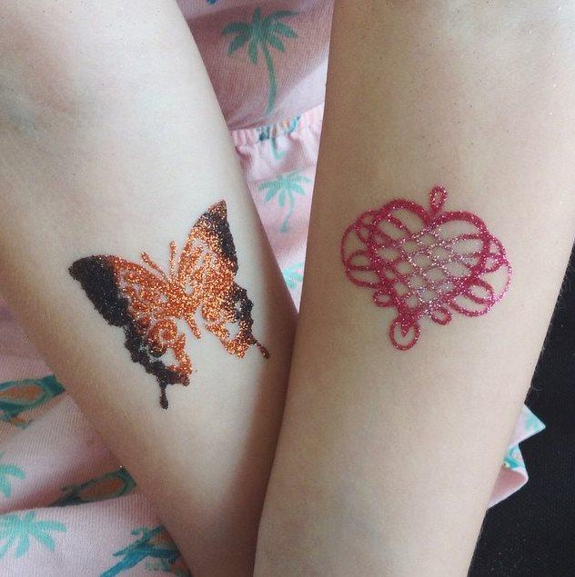 Butterfly Glitter Tattoo