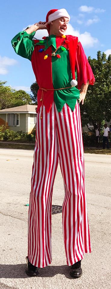 Christmas Elf Stilt Walker