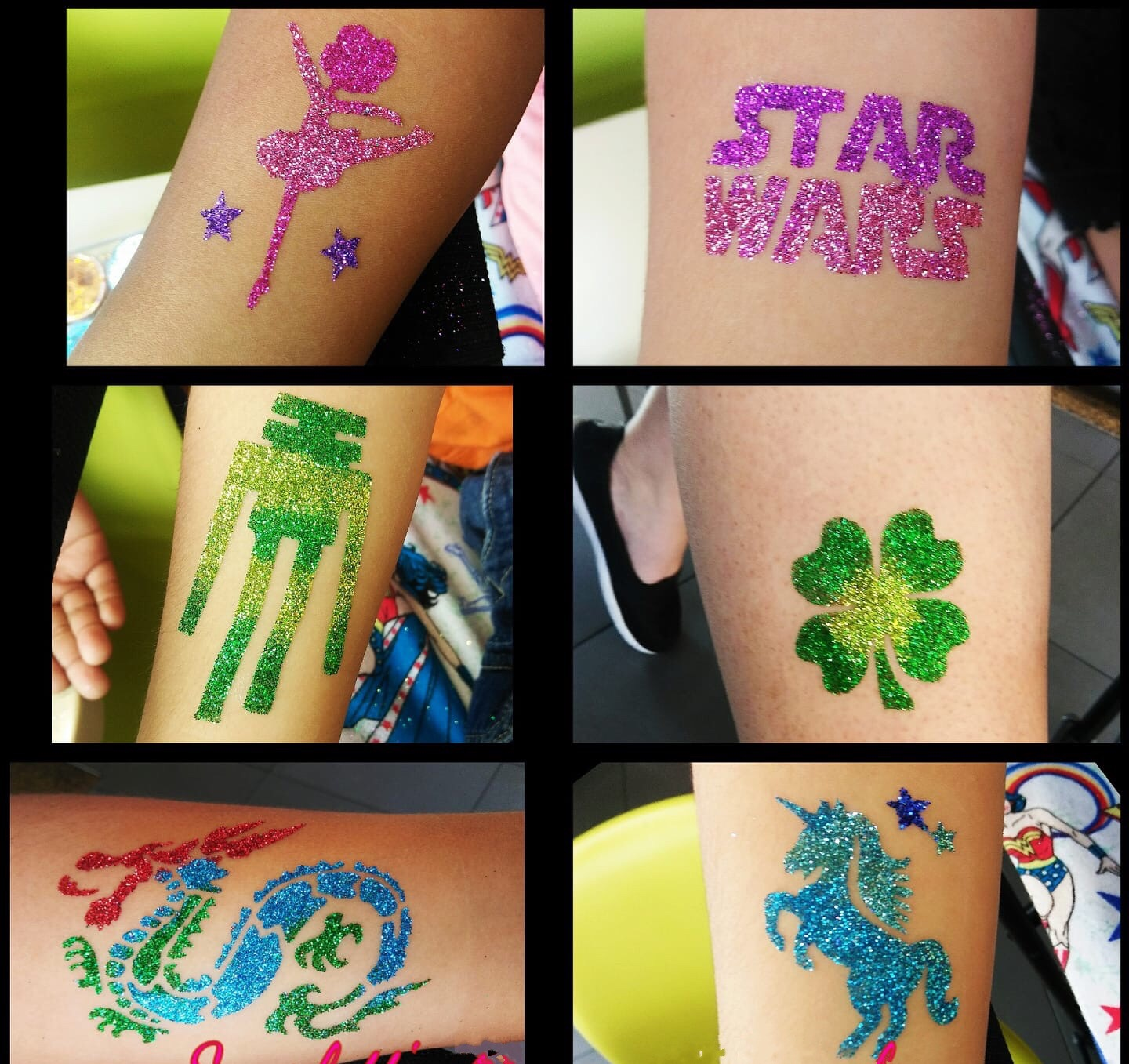 Glitter Arm Tattoos